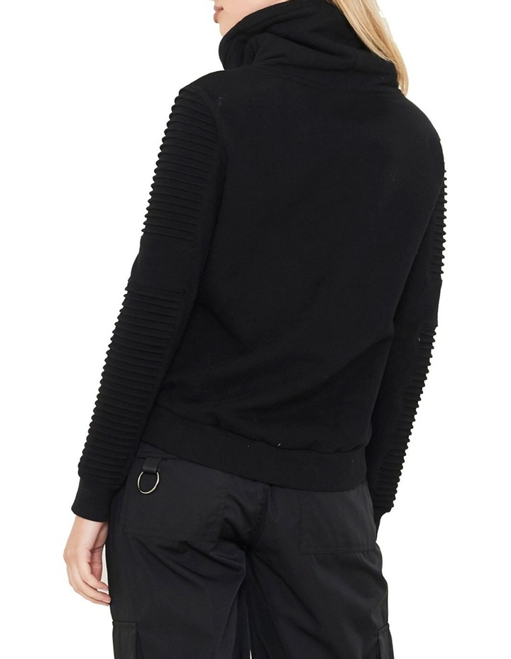 Adeline Funnel Neck Sweater With Pin-Tuck Sleeve image 4