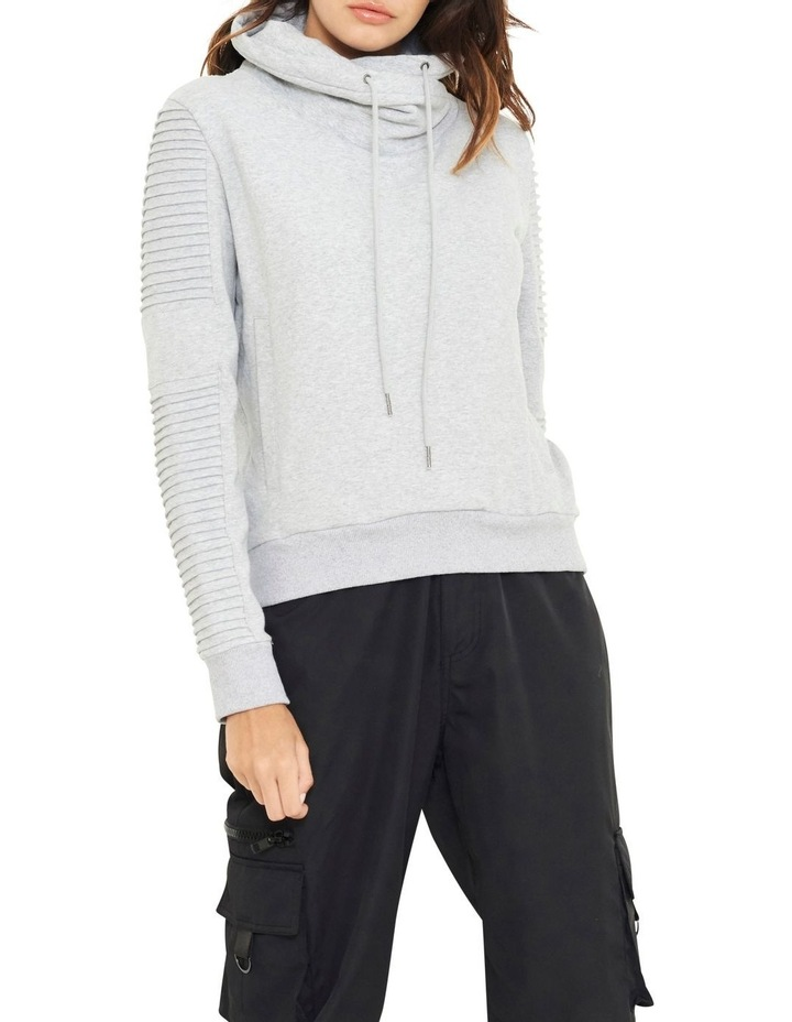 Adeline Funnel Neck Crop Sweater With Pin-tuck Sleve image 2