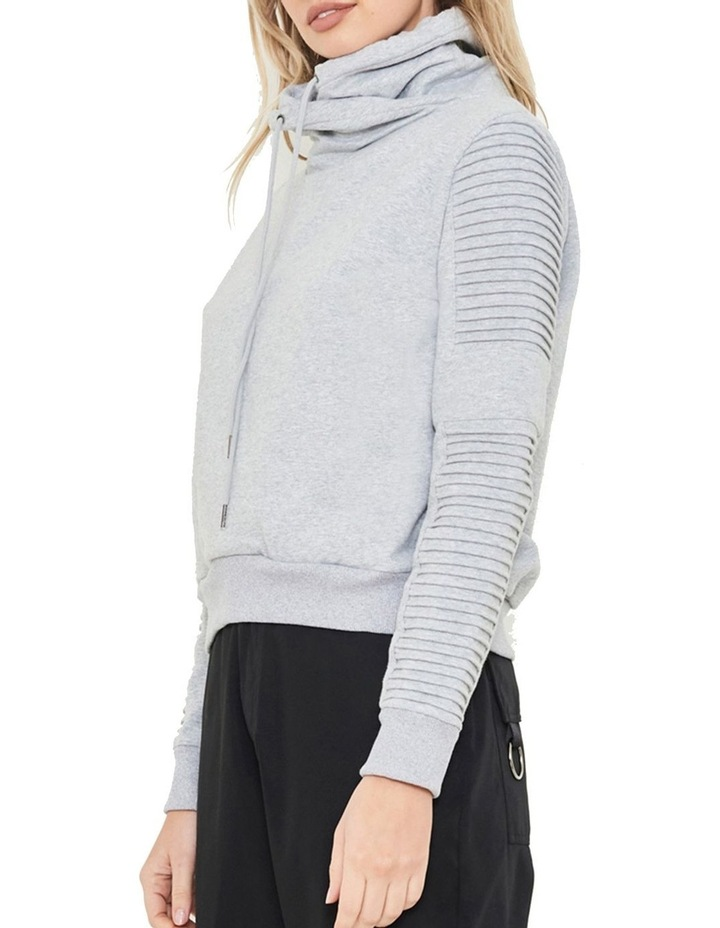 Adeline Funnel Neck Crop Sweater With Pin-Tuck Sleeve image 3