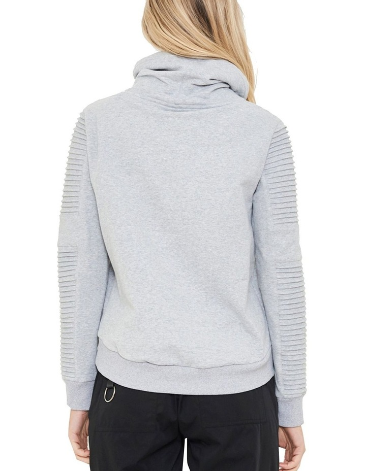 Adeline Funnel Neck Crop Sweater With Pin-Tuck Sleeve image 4