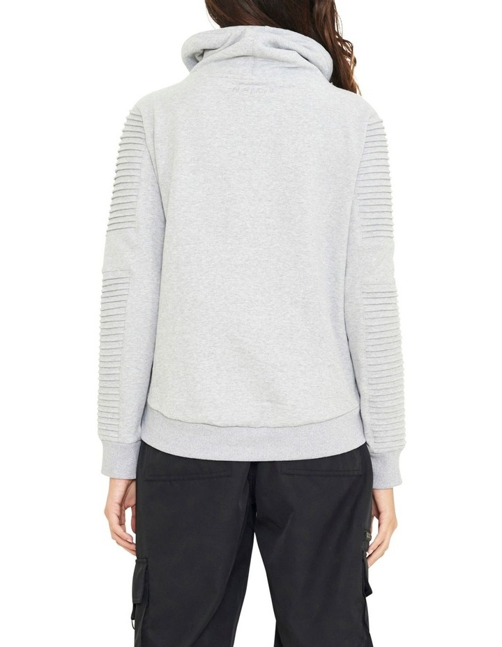 Adeline Funnel Neck Crop Sweater With Pin-tuck Sleve image 4