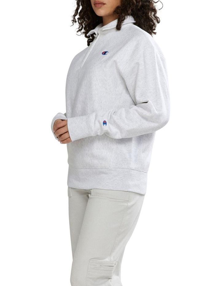 Reverse Weave Boyfriend Quarter Zip image 2