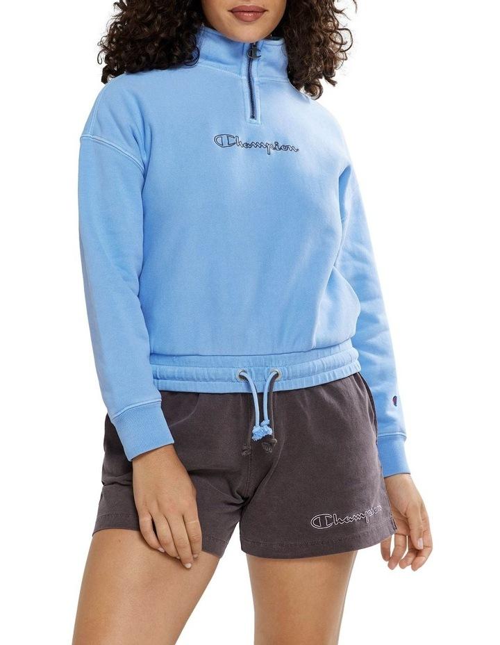 Garment Dye Quarter Zip Sweat image 1