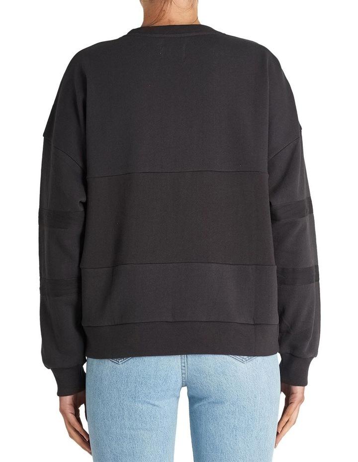 Washed BlackOversized Panelled Sweater image 2