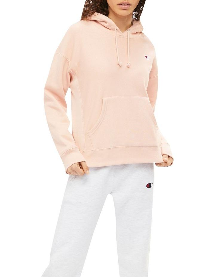 Reverse Weave C Pink Beige Hoodie image 1