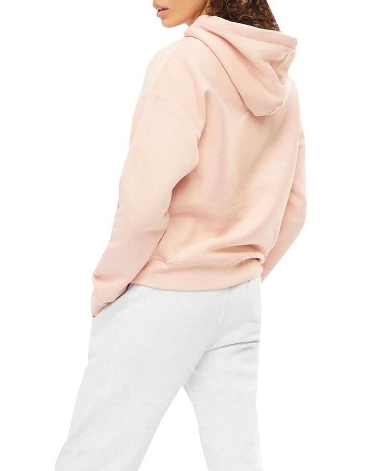 Reverse Weave C Pink Beige Hoodie image 2
