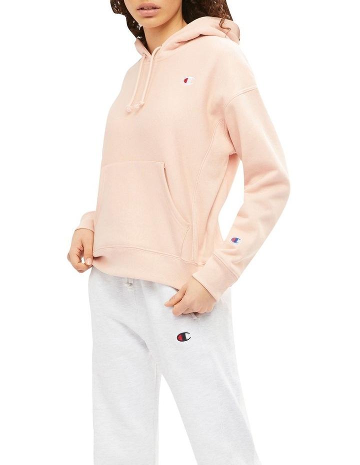 Reverse Weave C Pink Beige Hoodie image 3