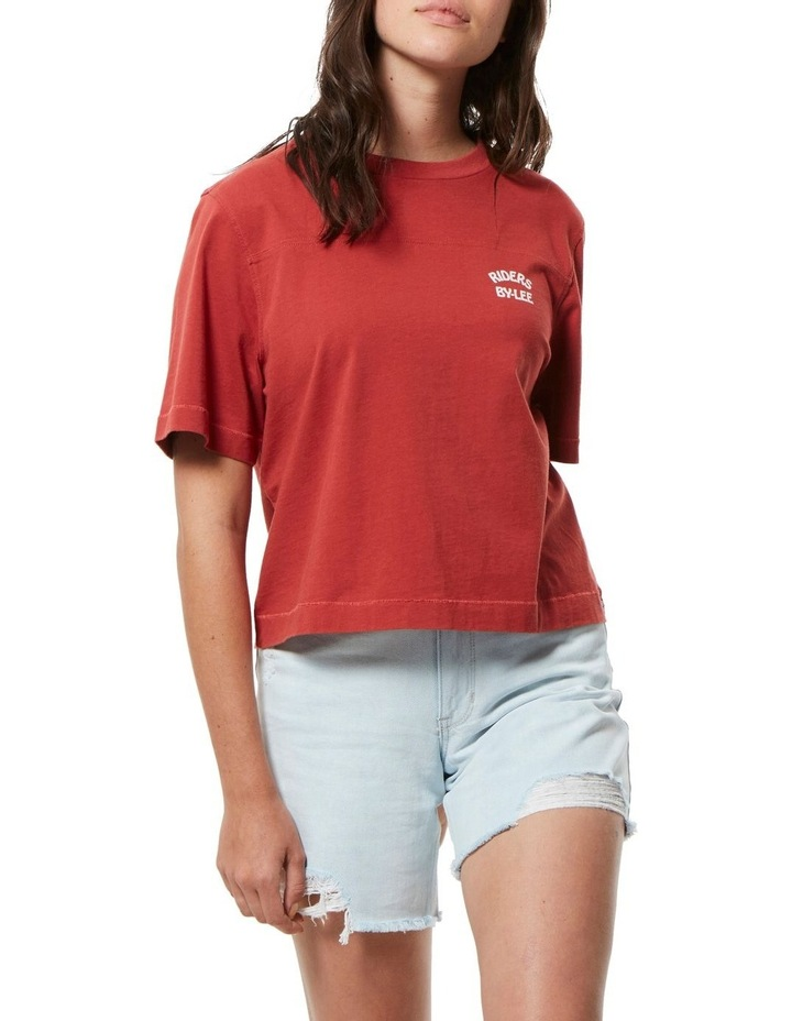 Boxy Tee Vintage Red image 1