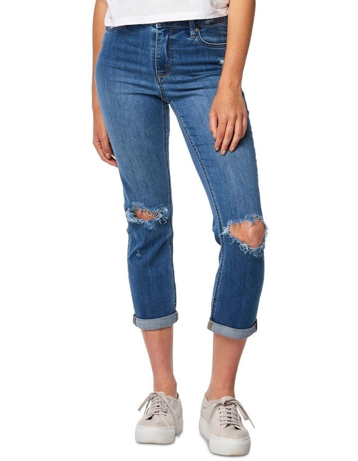 Slim Crop Coastguard Blue Jean image 1