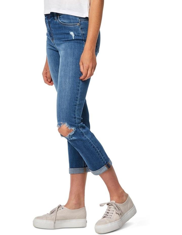Slim Crop Coastguard Blue Jean image 2