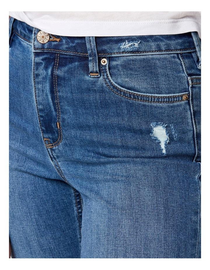 Slim Crop Coastguard Blue Jean image 3
