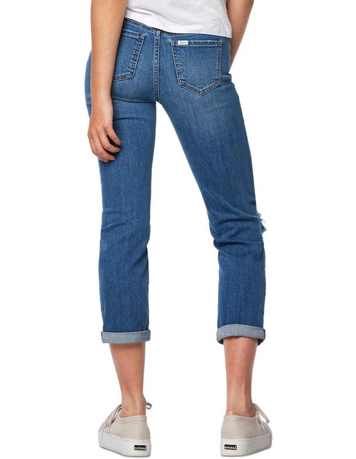 Slim Crop Coastguard Blue Jean image 4