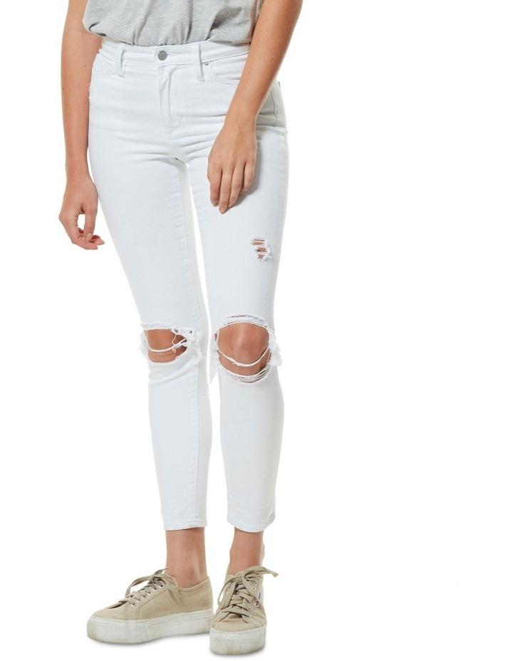 Mid Ankle Skimmer Decon White image 1