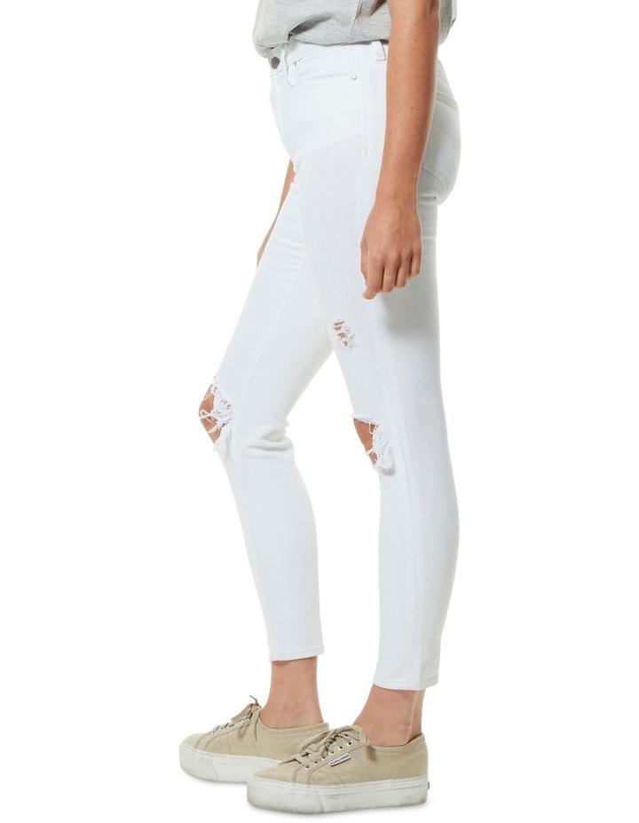 Mid Ankle Skimmer Decon White image 2