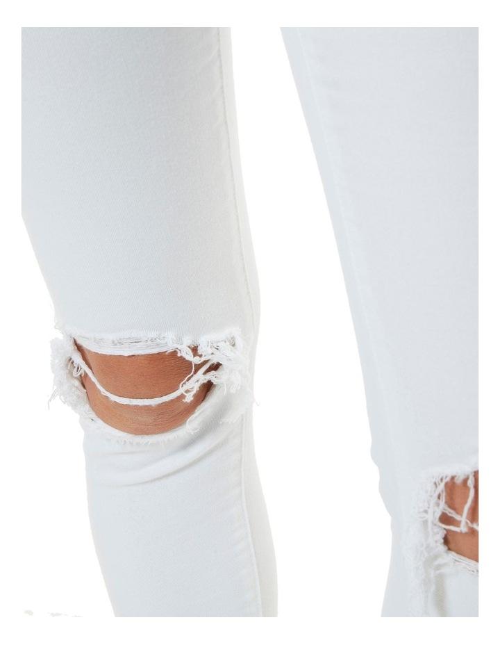 Mid Ankle Skimmer Decon White image 3
