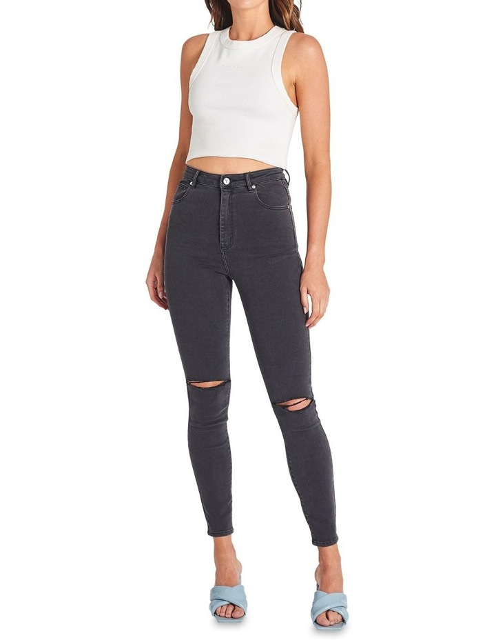 A High Skinny Ankle Basher Graphite Rip Jean image 1