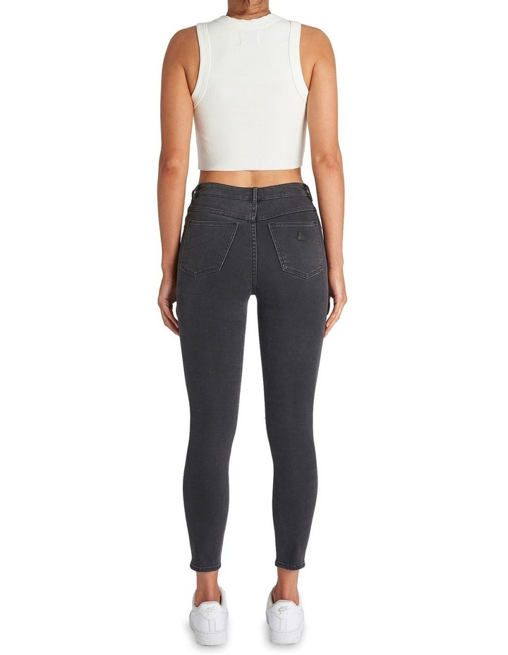 A High Skinny Ankle Basher Graphite Rip Jean image 2