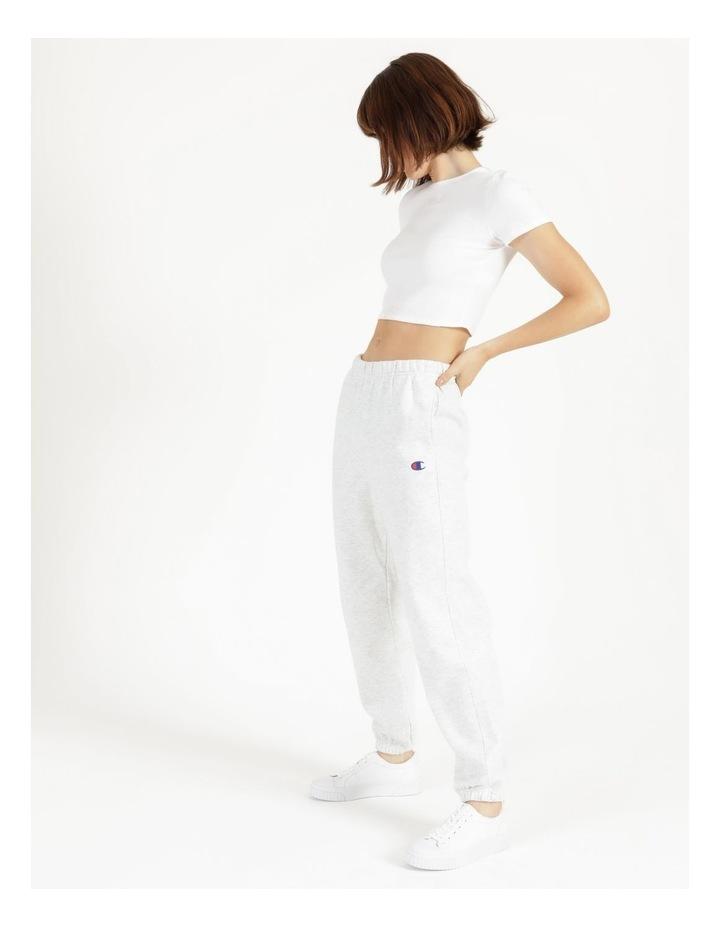 Reverse Weave Grey Jogger Pants image 4