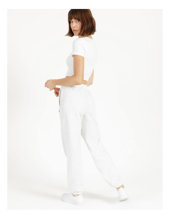 Reverse Weave Grey Jogger Pants image 5