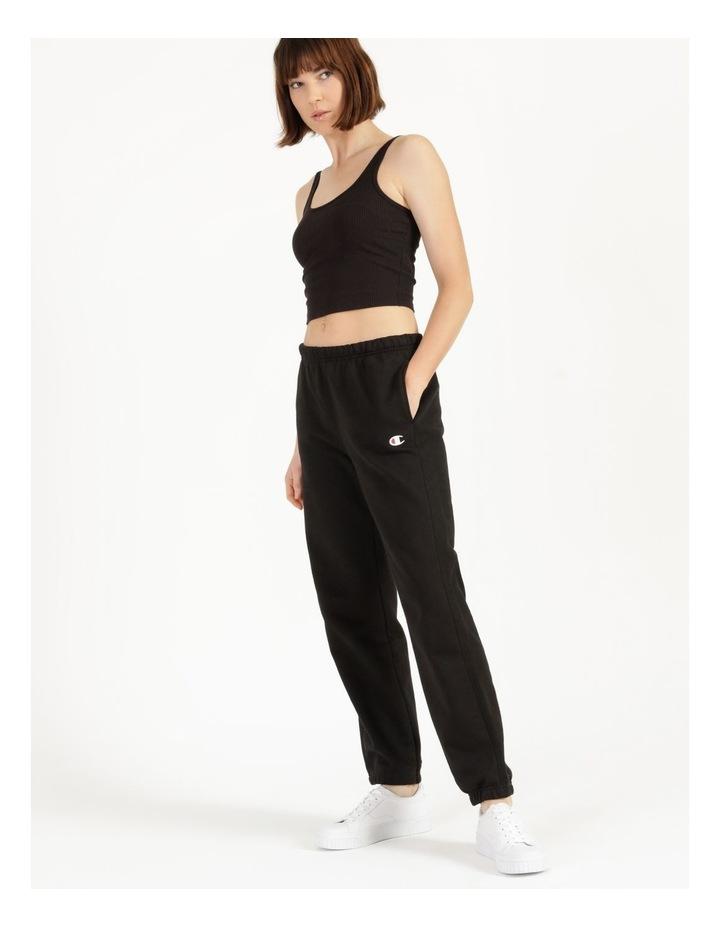 Reverse Weave Black Jogger Pants image 1