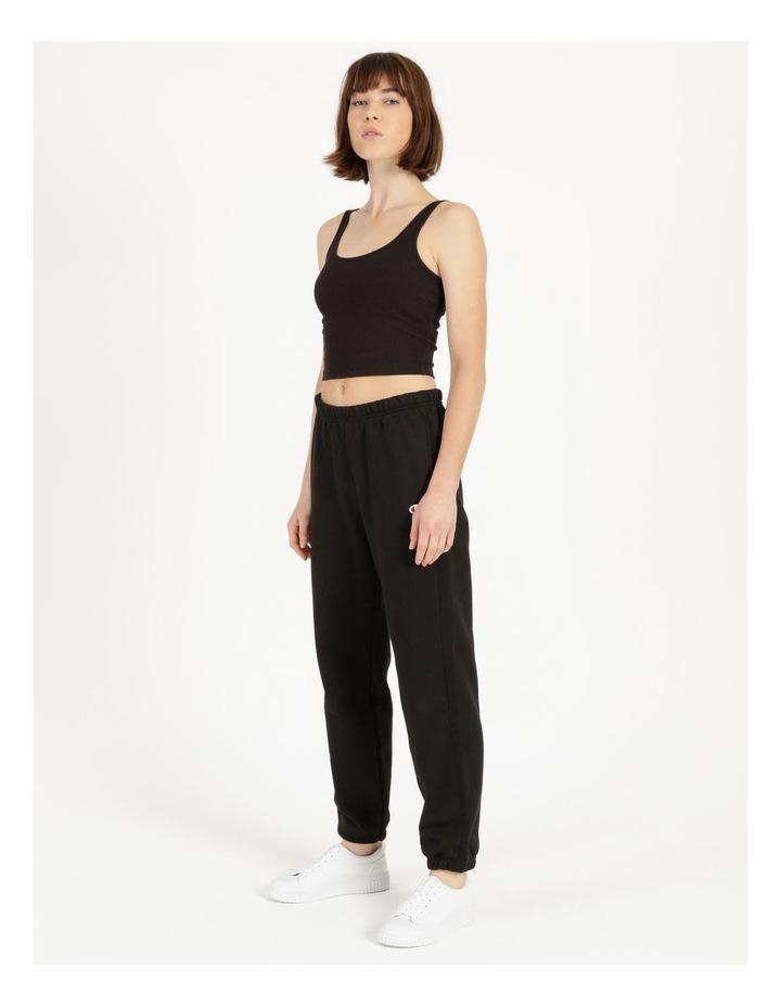 Reverse Weave Black Jogger Pants image 3