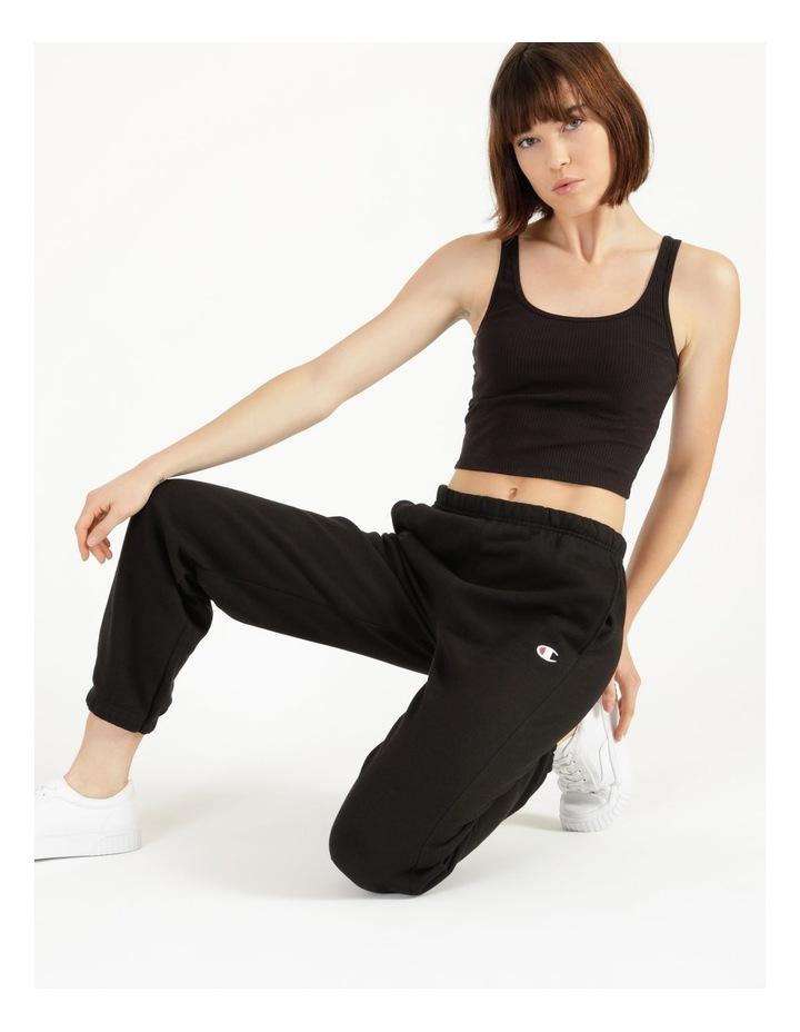 Reverse Weave Black Jogger Pants image 4