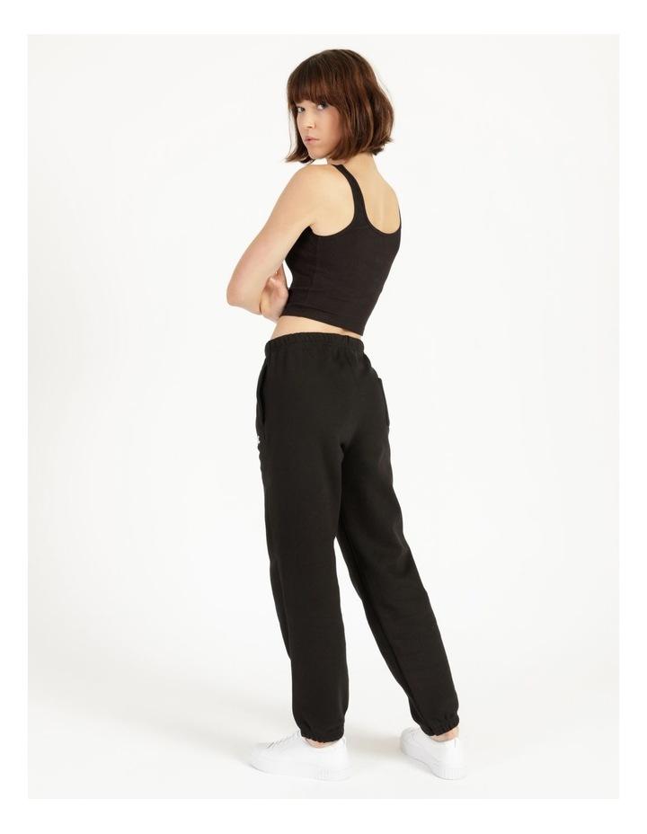 Reverse Weave Black Jogger Pants image 5