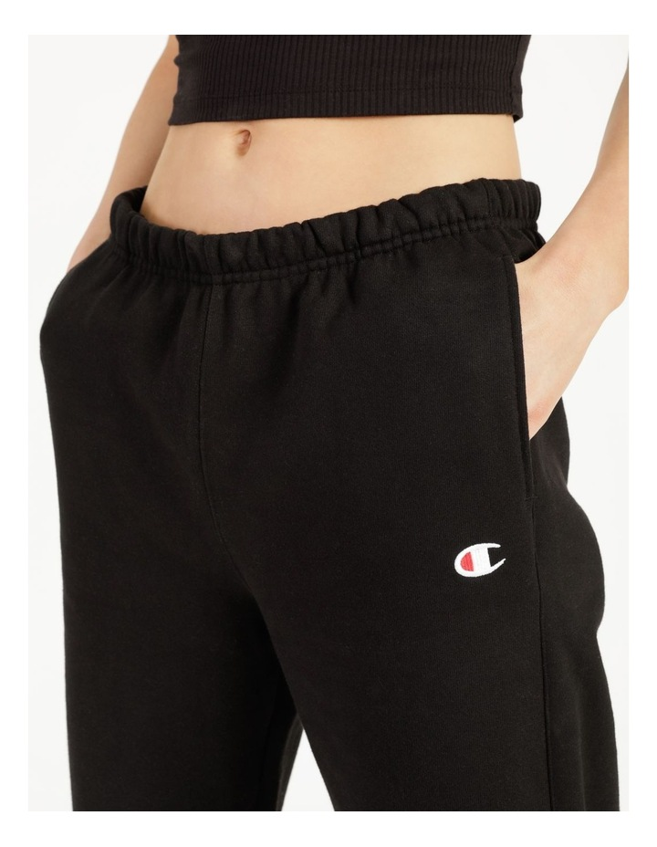Reverse Weave Black Jogger Pants image 6