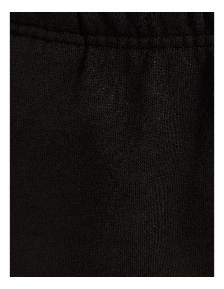 Reverse Weave Black Jogger Pants image 7