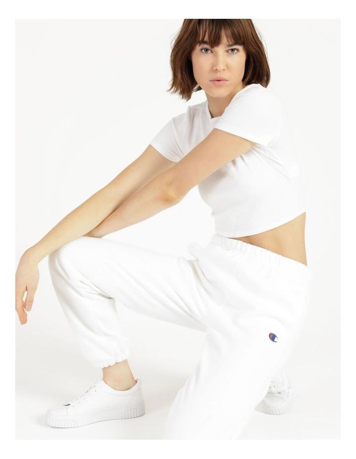 Reverse Weave White Jogger Pants image 2