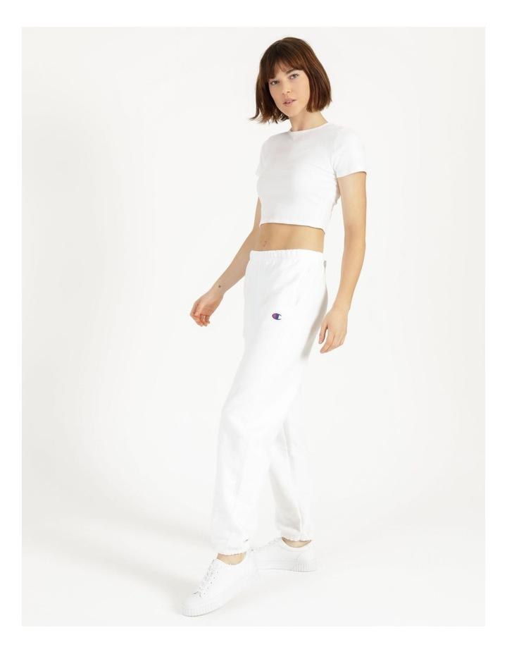 Reverse Weave White Jogger Pants image 3
