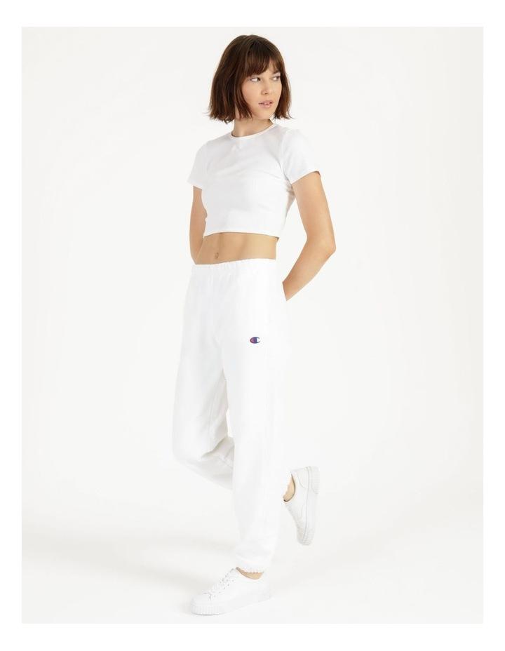 Reverse Weave White Jogger Pants image 4