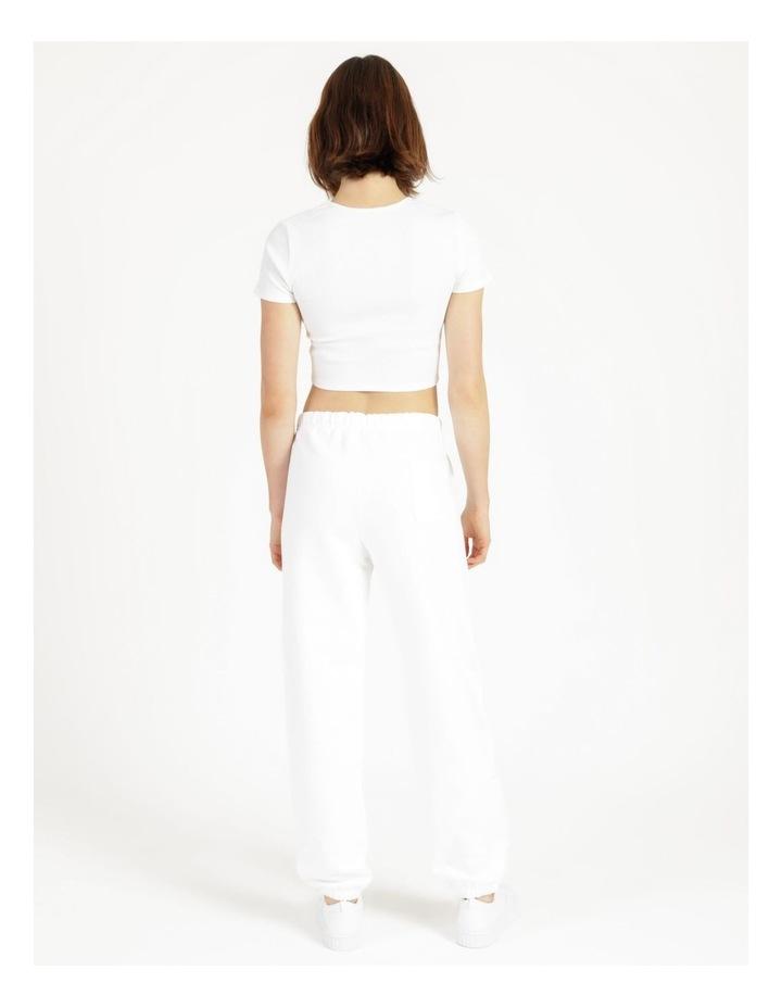 Reverse Weave White Jogger Pants image 5