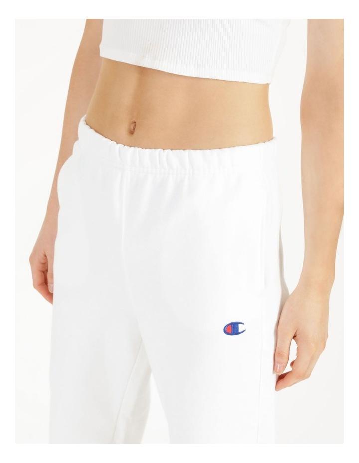 Reverse Weave White Jogger Pants image 6