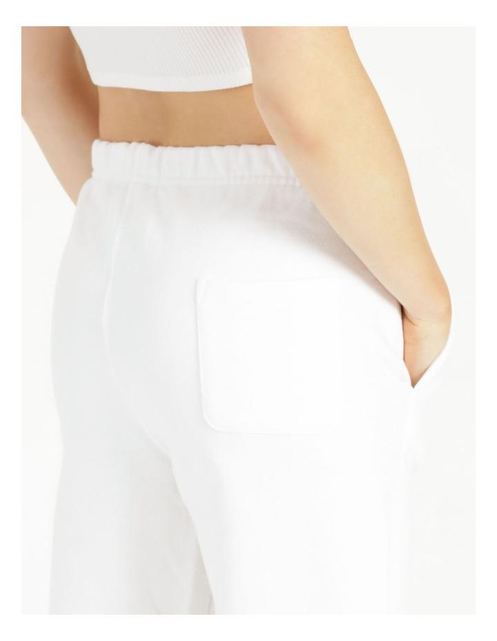 Reverse Weave White Jogger Pants image 7