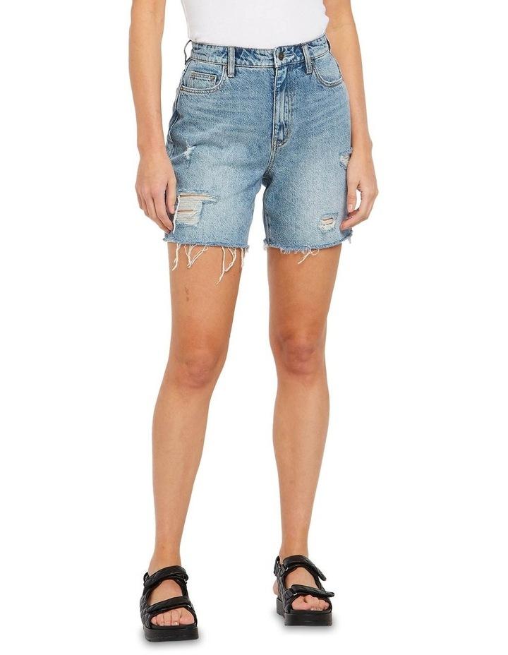 Straight Shorts Bring Joy Blue image 1