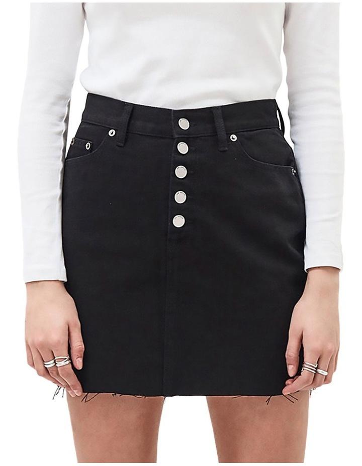 Mallory Denim High Waist Mini Skirt image 1
