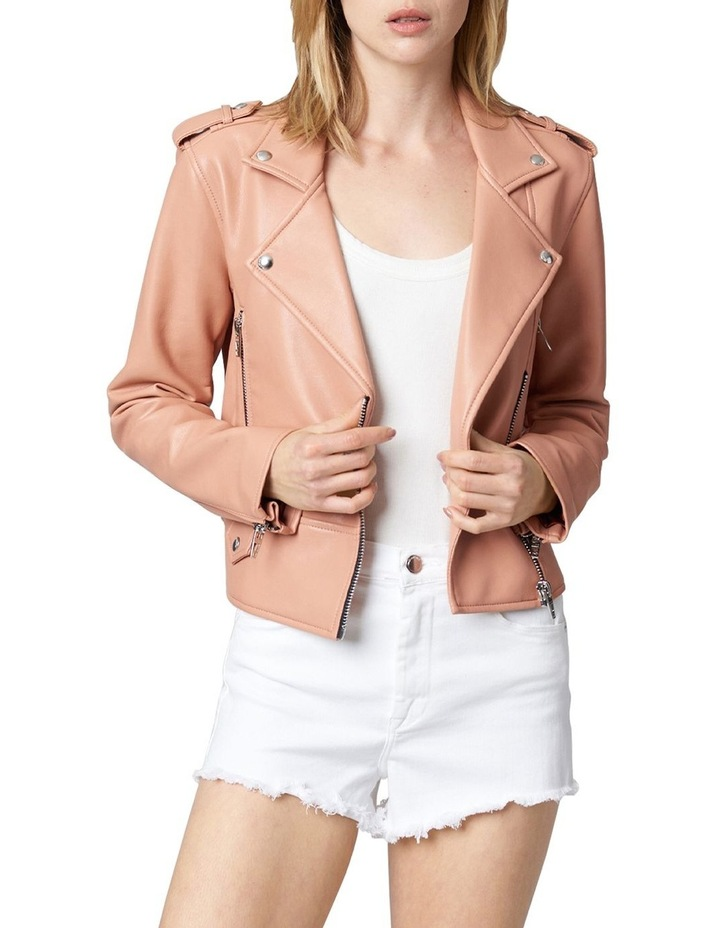 Dusty Coral Cropped Jacket image 1