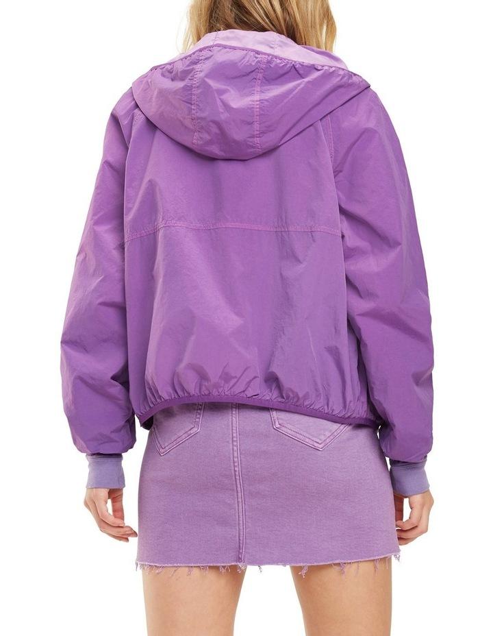 Hooded Contrast Zip Jacket image 3