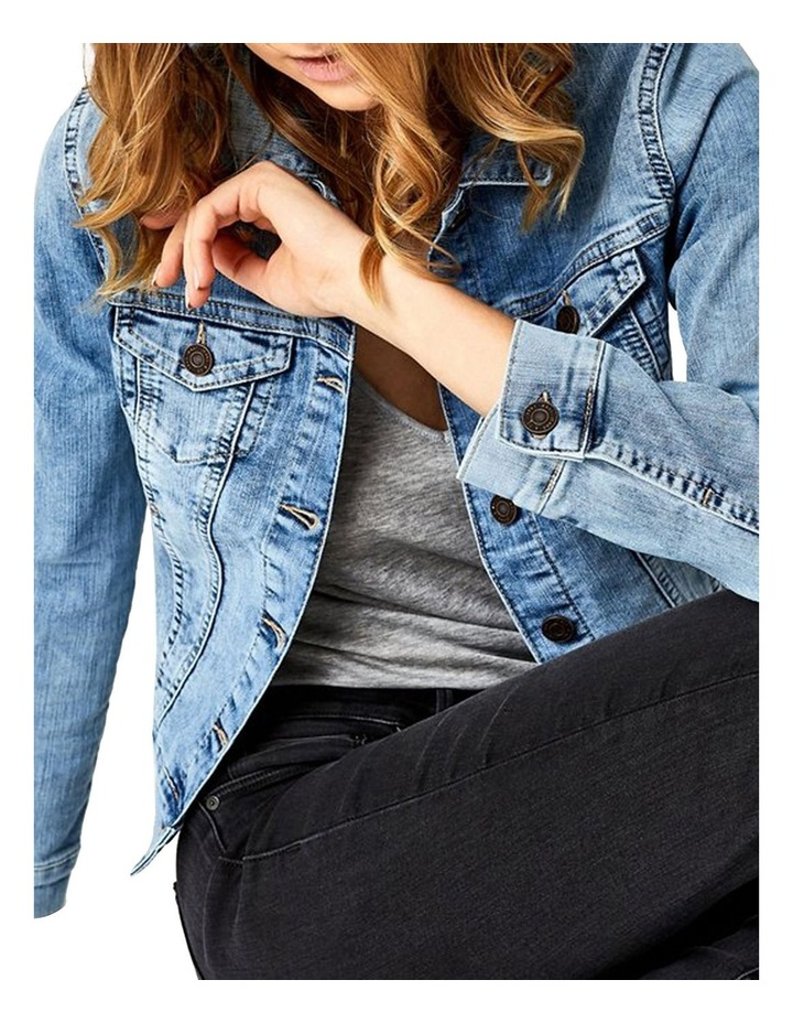Samantha Crop Denim Jacket image 5