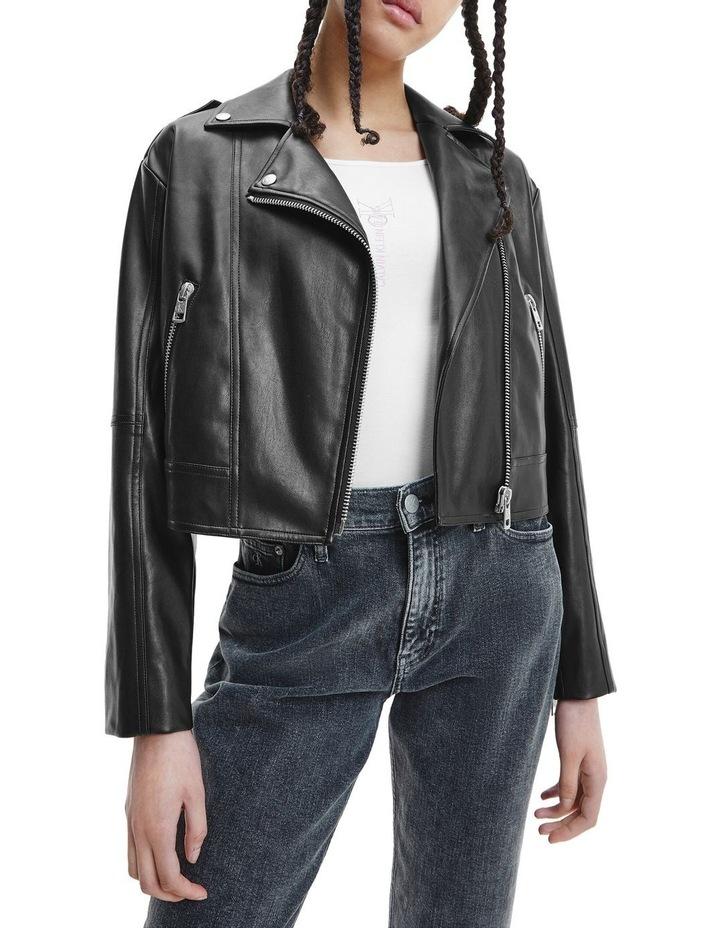 Black Faux Leather Jacket image 1