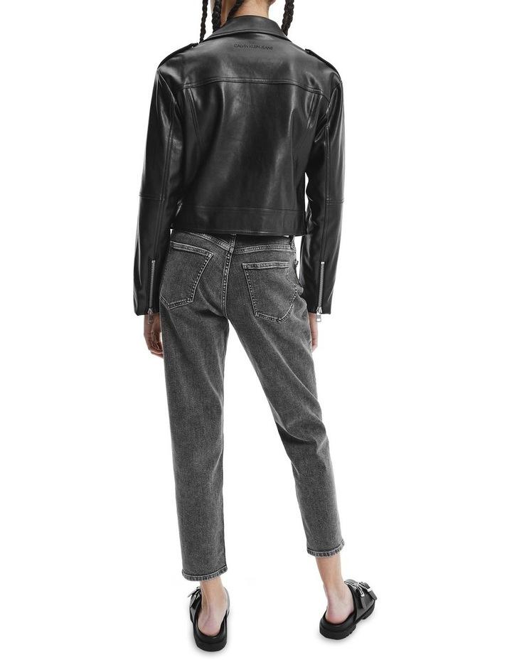 Black Faux Leather Jacket image 2
