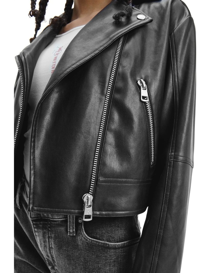 Black Faux Leather Jacket image 3