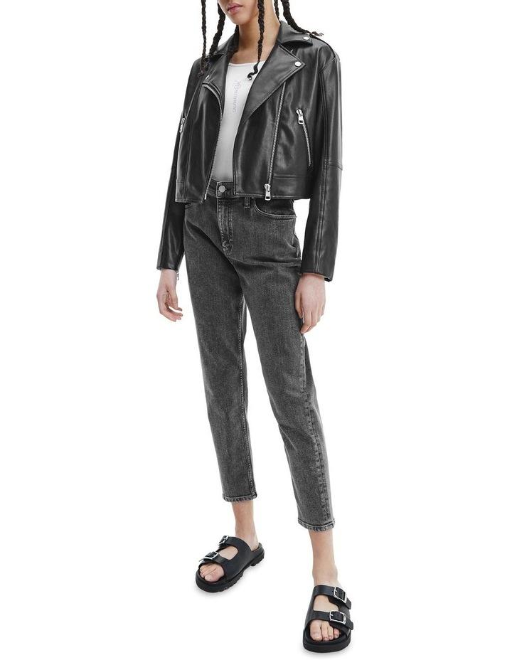 Black Faux Leather Jacket image 4
