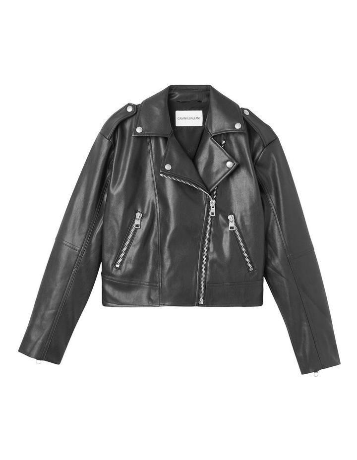 Black Faux Leather Jacket image 5