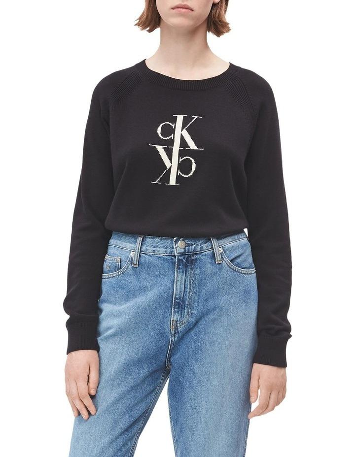 Mirrored Monogram Cotton Sweater image 1