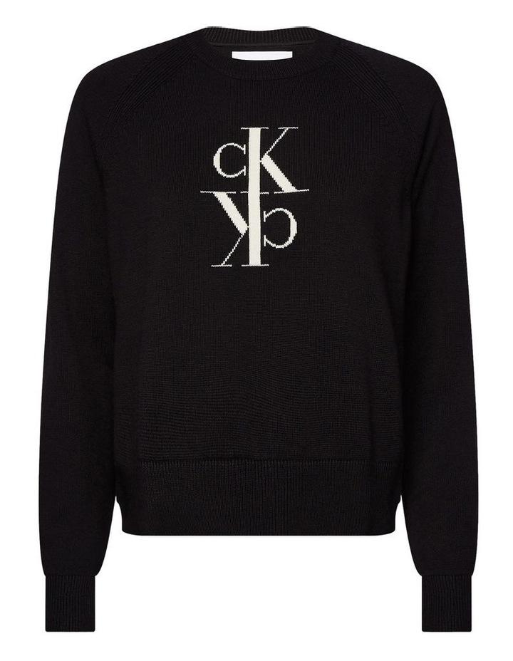 Mirrored Monogram Cotton Sweater image 2