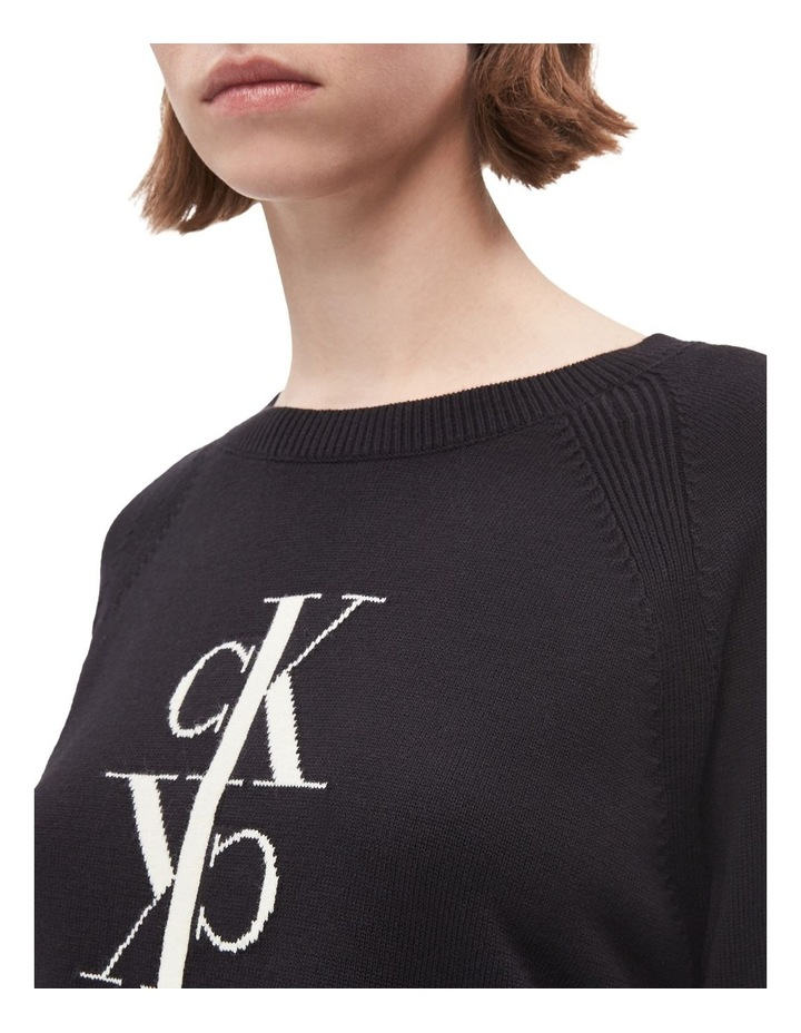 Mirrored Monogram Cotton Sweater image 4