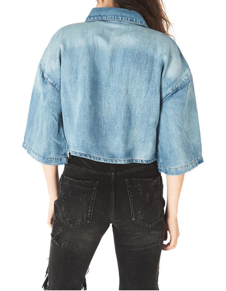 Rebel Linen Crop Denim Shirt image 2