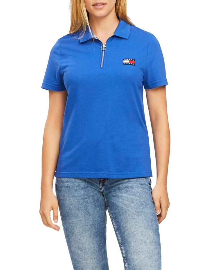 Tommy Badge Zip Neck Polo image 1